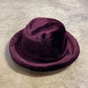 Vintage 90s GAP Burgundy Velvet Bucket Hat